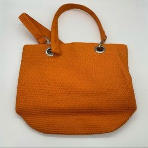 Sun 'N' Sand Orange Straw Beach Tote